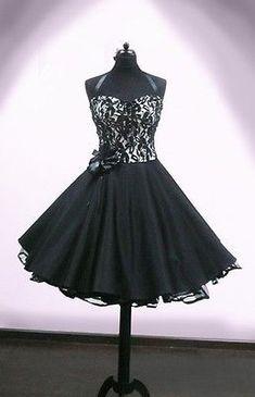 Petticoat Kleid schwarz/beige mit Spitze - aufheben?