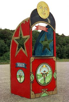 Chicago Circus ticket booth..photo booth- love the banner and easy to do!