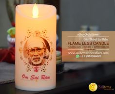 Om Sai Ram! Flameless Candles Sai Baba Pictures, God Pictures, Flameless Candles, Pillar Candles, Sai Baba Miracles, Shirdi Sai Baba Wallpapers, Sai Baba Quotes, Believe, Sathya Sai Baba