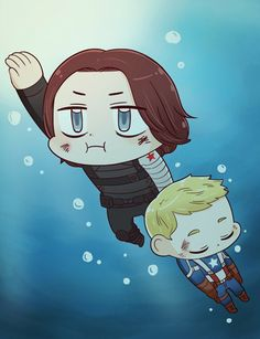 "[MARVEL] WATER by twosugars16 on DeviantArt | And Bucky's face. ""Welp, here we go again ..."""