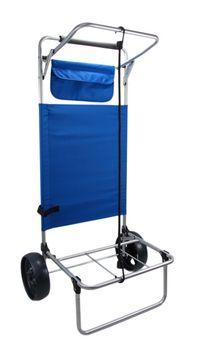 Rolling beach cargo utility cart - holds chairs, umbrellas, coolers, bags, towels, etc. Via Things2Die4.