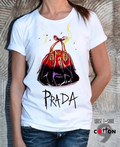 Handmade Prada Bag Pop Art Print T-Shirt by EugoriaShop
