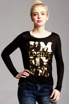 Losing My Mind Graphic Top only $16.99