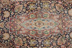 This is Silvia. She's a beautiful vintage silk boho rug and she's honestly one of those rugs that I'm sad to see go. This beautiful low pile rug is soft, shiny, and amazing - there's just no other wor