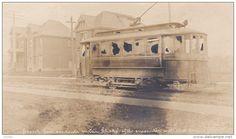 Circa 1906 RPPC Hamilton Mob attacks Streetcar during Strike HAMILTON Ontario - Delcampe.com