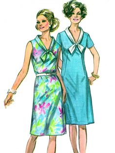 1970s Dress Pattern Simplicity 9330 Womens Tie by paneenjerez, $10.00