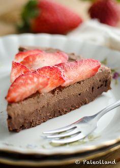 Paleo Chocolade Aardbeien Taart