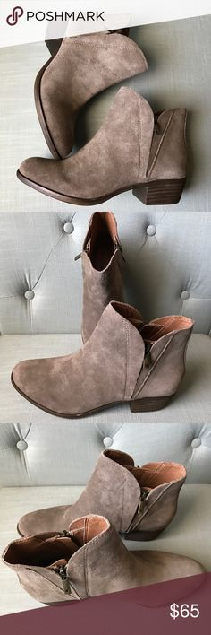 Selling this Lucky Suede Booties on Poshmark! My username is: ds0110. #shopmycloset #poshmark #fashion #shopping #style #forsale #Lucky Brand #Shoes
