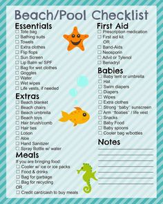 Beach Trip Discover Printable Beach Checklist - In The Playroom Free printable beach and pool checklist and beach tips for your family this summer Beach Boy, Toddler Beach, Beach Babies, Babies Pics, Toddler Travel, Beach Hacks, Beach Ideas, Beach Trip Tips, Thing 1