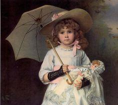 PRINT FREE Ship Victorian Girl and Parasol от VictorianRosePrints