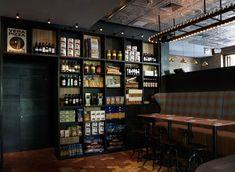 Hospitality Design - Matto Bar and Pizzeria, Shanghai Bar Interior Design, Cafe Design, Food Design, Store Design, Bar Restaurant, Restaurant Design, Pizzeria Design, Sombre, Hospitality Design