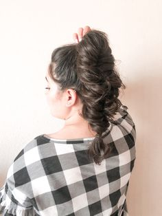 Easy Hairstyles For Medium Hair, Braided Hairstyles Tutorials, Curled Hairstyles, Cool Hairstyles, Hair Inspo, Hair Inspiration, Fishtail Ponytail, Simple Ponytails, Creative Hairstyles
