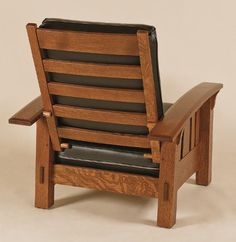 Details About Amish Mission Arts And Crafts Recliner Chair