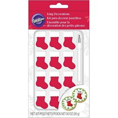 Wilton Stocking Icing Decorations with Edible Ink Marker ** SUPERB BEST OFFER! : Baking desserts tools