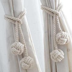 Decorative Curtain Cotton Backs Handmade Curtain Cotton Double Rope Ball Tie Backs for Home Hotel Curtain Decor Supplies – home accessories Curtain Tie Backs Diy, Curtain Hangers, Curtain Ties, Diy Curtains, Rope Curtain Tie Back, Double Curtains, Rope Tie Backs, Window Curtains, Decoration Evenementielle