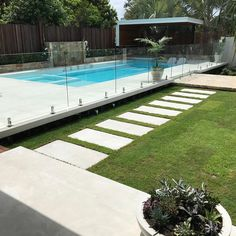 Fence Around Pool . Fence Around Pool . Backyard Beach, Small Backyard Pools, Backyard Pool Landscaping, Backyard Pool Designs, Swimming Pools Backyard, Backyard Fences, Landscaping Ideas, Modern Backyard, Modern Landscaping