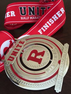 Rutgers Half Marathon 8k Finisher Medal Race Run Design