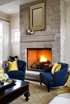 Fireplace Design Ideas. Stone Fireplace Ideas. The fireplace is by Town & Country Fireplaces. #FireplaceDesign #StoneFireplace #FireplaceIdeas Designed by Jane Lockhar.