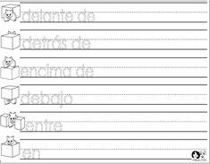 Position Words Spanish Printout