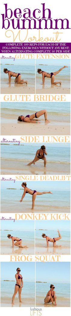 Beach Bummm Workout || Lushious Lifts