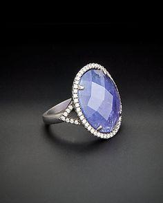 Rue La La — Meira T Silver 9.55 ct. tw. Diamond & Tanzanite Ring