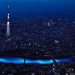 100000 #luci a #Led sotto il #TokyoRiver