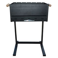BergHOFF 4490285 Portable Folding Steel Charcoal Barbeque - Black