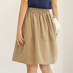 Korea womens shopping mall [styleberry] Easy fit full back bending Skirt  / Size : FREE / Price : 36.17 USD #korea #fashion #style #fashionshop #styleberry #lovely #skirt #beige