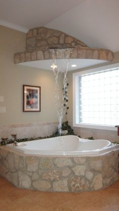 waterfall tub