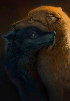 Wolf Of Antimony Occultism Wolf Spirit, My Spirit Animal, Beautiful Wolves, Animals Beautiful, Beautiful Artwork, Wolf Mates, Wolf Hybrid, Wolf Artwork, Werewolf Art