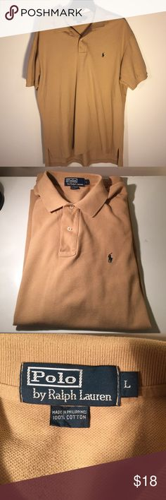 Polo Men's Large Tan Polo Style Shirt Like New Polo Men's Large Tan Polo Style Shirt Like New Only Worn a Couple a Times Polo by Ralph Lauren Shirts Polos