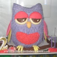 I found this adorable owl cake! I think I will do the their smash cakes for their first birthday like this!