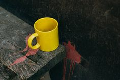 Yellow mug by Danil Nevsky - Stocksy United Yellow Mugs, Coffee Images, Stock Photos, Tableware, Green, Dinnerware, Coffee Pictures, Porcelain
