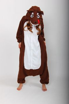 Wolf Kigurumi Pajamas Anime Cosplay Costume Unisex Adult Onesie Sleepwear Brown #Unbrand
