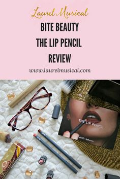 A review of the Bite Beauty The Lip Pencil in 020, Bite Beauty The Lip Pencil in 040, Bite Beauty Amuse Bouche Lipstick in Honeycomb, and Bite Beauty Amuse Bouche Lipstick in Whiskey. #TheLipPencil #contest #influenster