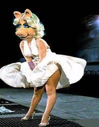 Miss Piggy as Marilyn Monroe