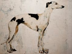 """""""Greyhound,"""" painting by Constance Bachmann Portrait Art, Pet Portraits, Skinny Dog, Greyhound Art, Whippet Dog, Lurcher, Animals Images, Pictures To Paint, Animal Paintings"""