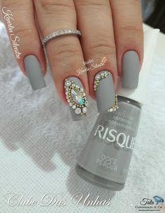 how I shape my nails! Rhinestone Nails, Bling Nails, Romantic Nails, Short Square Nails, Nail Polish Art, Nail Art, Diva Nails, Nail Selection, Stylish Nails