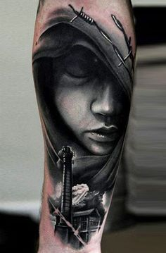 Realism Face Tattoo by U Gene | Tattoo No. 12445