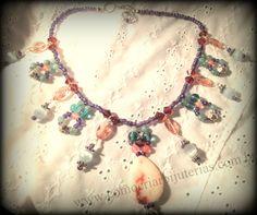 Jewelry DIY - Bohemian style necklace  Passo a passo de colar boêmio