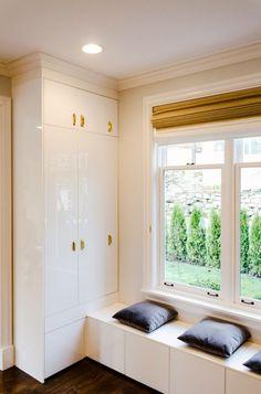 A Refrigerator Cabinet Window Seat