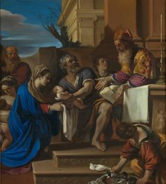 The Presentation of Jesus in the Temple // 1623 // Guercino // © The National Gallery, London // #Christ #Candlemas #Purification