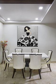 Menina moderna plata, negro y Decoration, Art Decor, Home Decor, Easy Canvas Painting, Living Room Art, Kitchen Art, Whimsical Art, Doodle Art, Collage Art