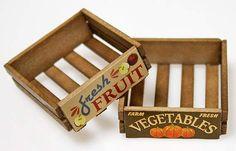 fruit crates #fairygarden