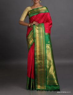 Swarna Opulent Broad Adorned Border Real Zari #GadwalSilkSaree