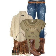 Denim in Distress, created by immacherry on Polyvore