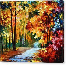 Red Fall — Palette Knife Orange Autumn Landscape Oil Painting On Canvas By Leonid Afremov. Size: X Inches cm x 75 cm) Oil Painting Texture, Autumn Painting, Autumn Art, Oil Painting On Canvas, Canvas Art Prints, Autumn Forest, Fall Canvas Art, Garden Painting, Autumn Trees