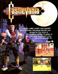 Castlevania 64, from Nintendo Power.