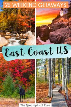 Planning an East Coast road trips? And want to get off the beaten path and visit some towns with less tourists and fewer crowds. If you're wondering where to go on the East Coast, this guide takes you to the best towns on the East Coast, with historic landmarks and stunning landscapes. Many of these towns make perfect day trips or weekend getaways. US Travel | US Road Trips | East Coast Road Trips | Fall Road Trips | Things To Do On the East Coast | Hidden Gems on the East Coast