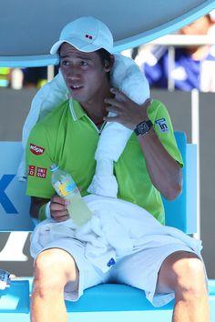 Kei Nishikori Photos - Australian Open: Day 4 - Zimbio
